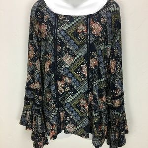 NWT Liberty Love Blouse Bell Sleeve Size XLarge